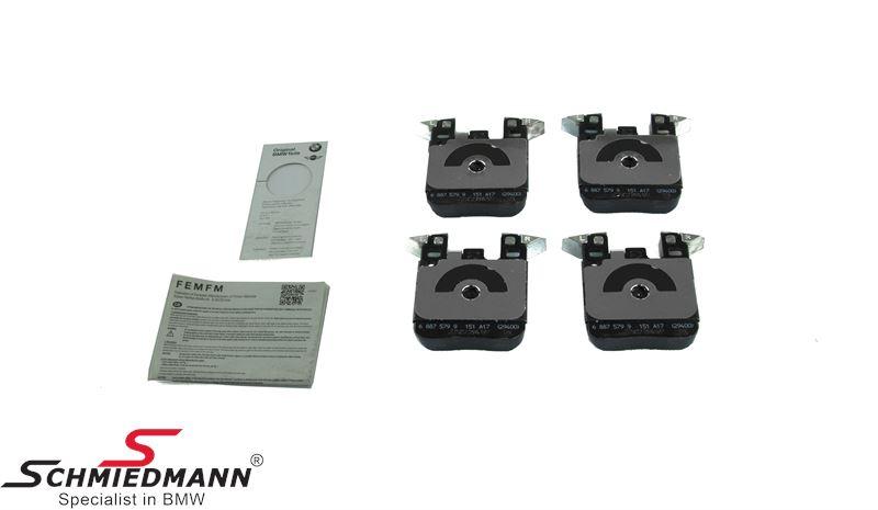 Bromsbelägg   bak för BMW ///M Performance systems