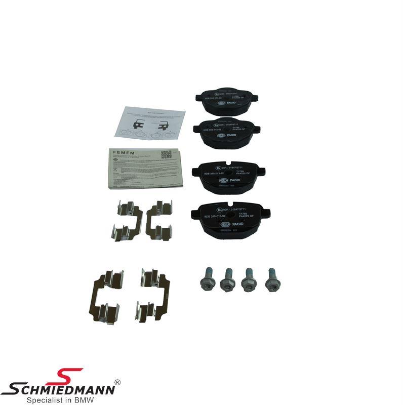 Brake pads rear -original Hella Germany-