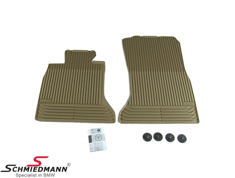 "Rubber floormat set ""All weather"" beige front"