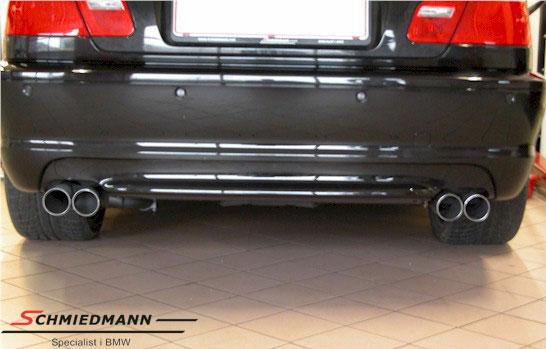 4 rør Eisenmann sportsudstødning i M3 E46 look 4XØ70MM
