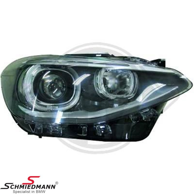 Headlight set -Xenon OE look- clear/black H7/H7, with DRL day driving light