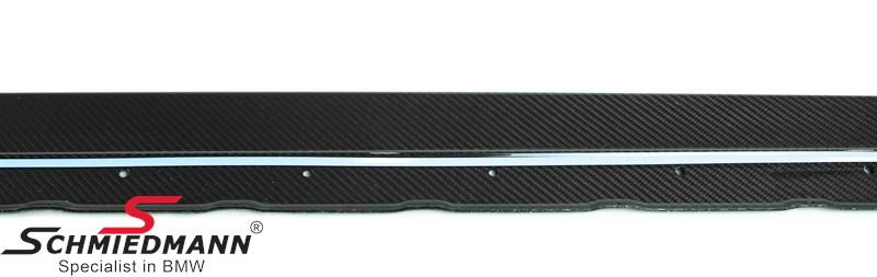 Sideskirt extension -M-Performance- genuine carbon, for M-Technic or M-aerodynamic sideskirts L.-side