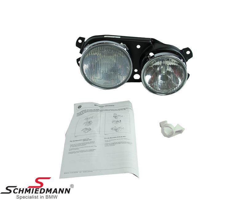 Twin headlight high/low beam R.-side, original BMW