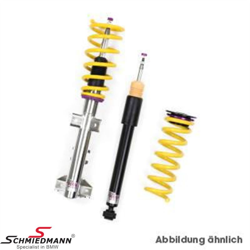 Coilover kit (Front only) -KW Street Comfort- height adjustable 10-40MM, please note also adjustable rebound & compression