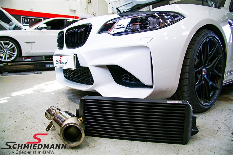 Wagner Tuning Germany Performance-Package EVO2 for N55 engines, consists of  a highflow downpipe with 200cells catalyst + an upgrade intercooler