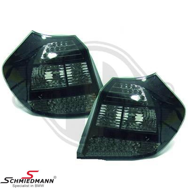 Baglygter LED krystal sorte
