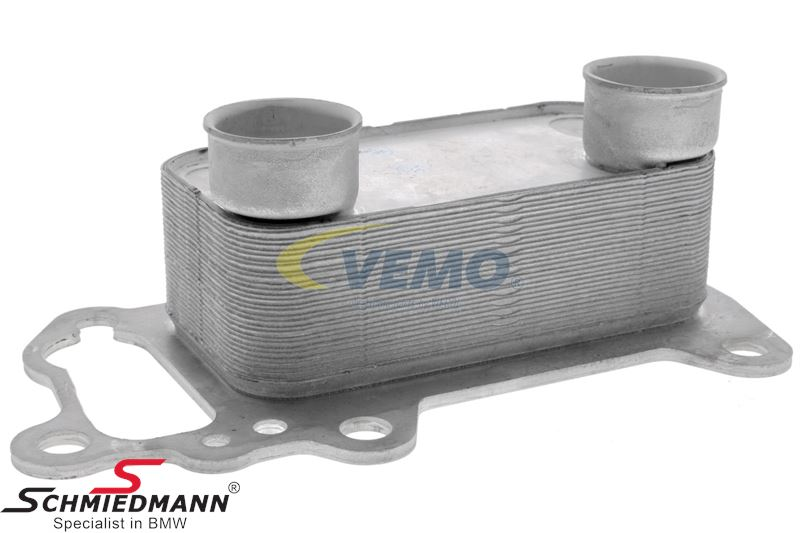 Oil cooler for the engine oil