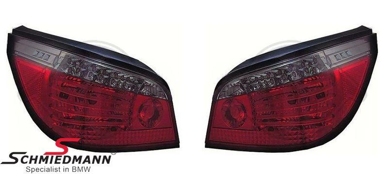 Baglygter facelift med dynamisk blink, rød/smoke LED, W16W, P21W