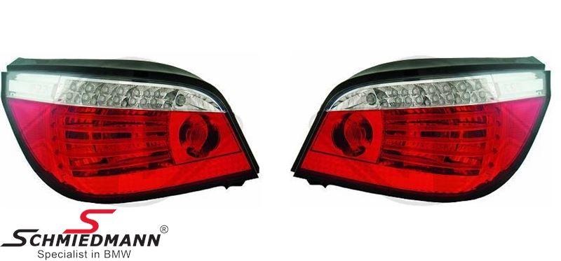 Baglygter facelift med dynamisk blink, rød/hvid LED, W16W, P21W