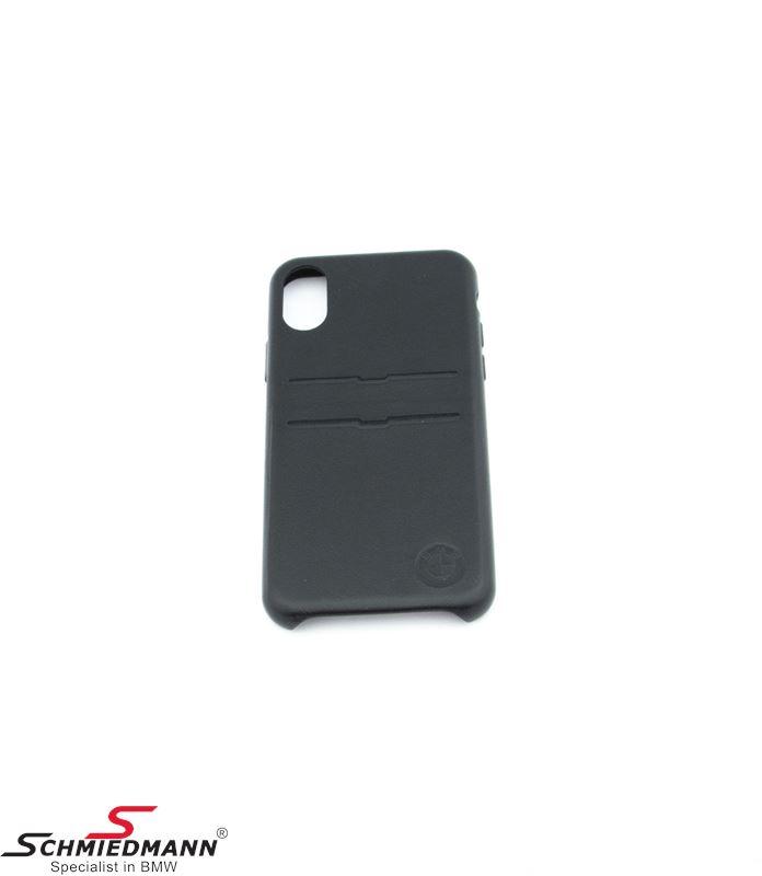 iPhone X BMW læder mobil cover med kortholder
