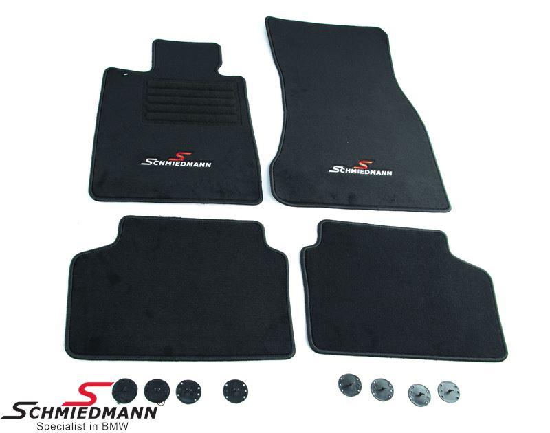 Floormats front/rear original Schmiedmann -Sport Edition- black