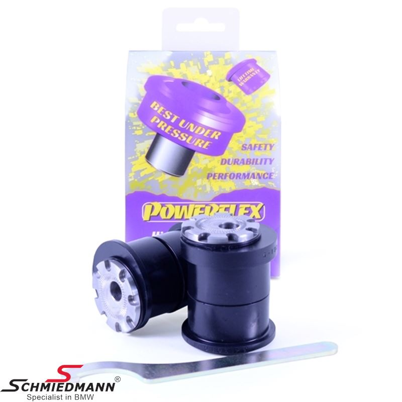 Powerflex racing front arm (wishbone) inner bush set, camber adjustable +/- 0.75 degrees (Pos. 1 on diagram)