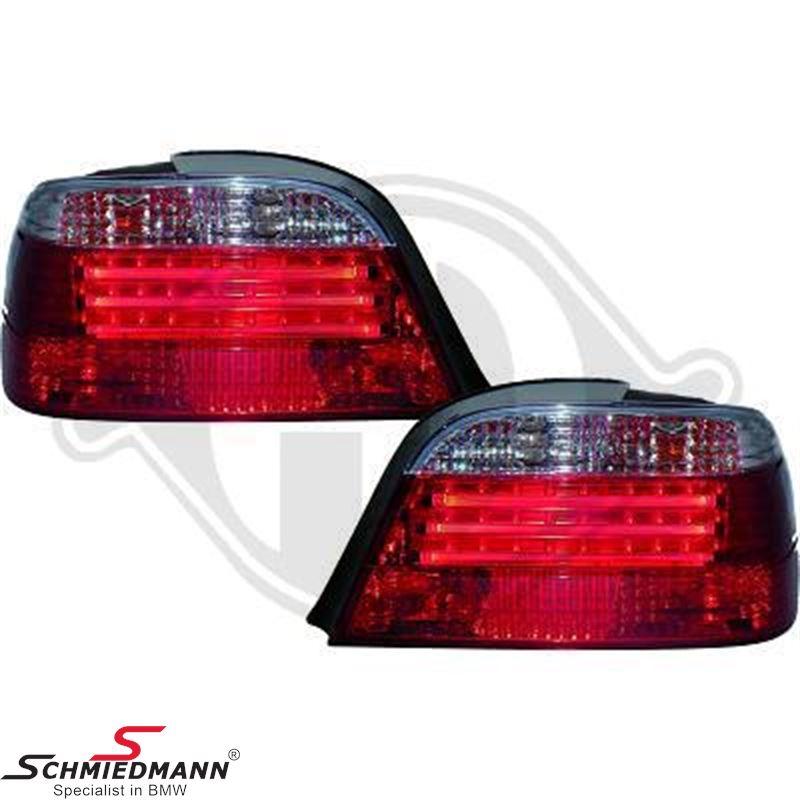 Baglygtesæt LED facelift rød/hvid