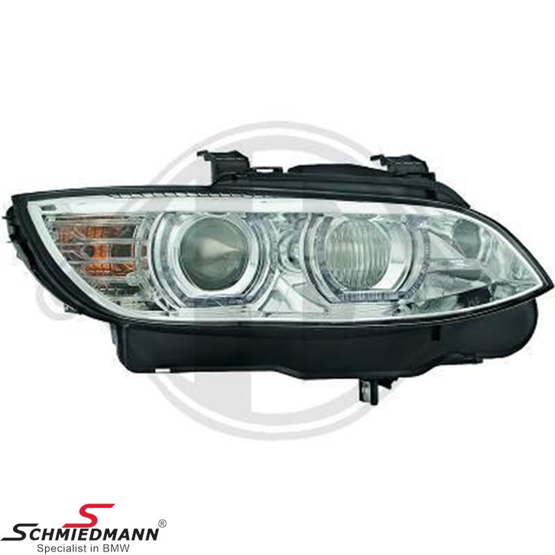 Headlight set -New Generation- clear/chrome xenon D1S/H3, with day driving light