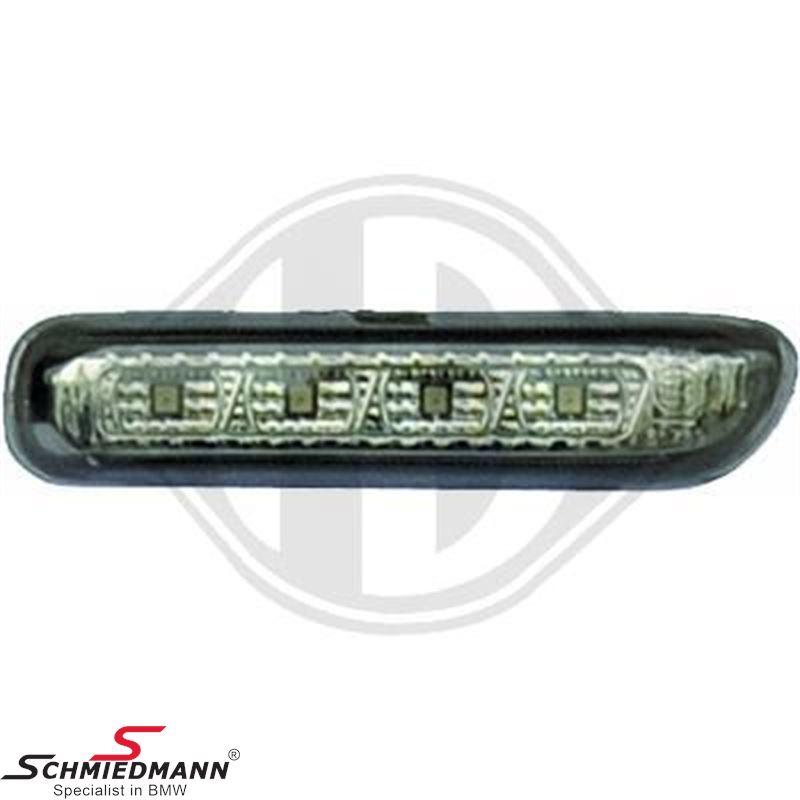 Sideblink sæt LED sort/klarglas