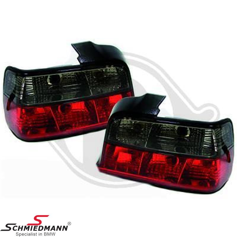Taillight set red/black in crystal design