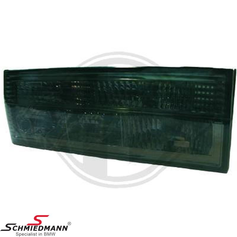 Taillight set clear glass/black