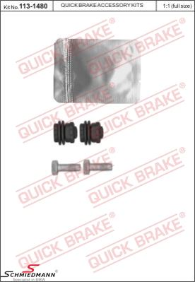 Repair kit bellows for front brake carrier, incl. grease