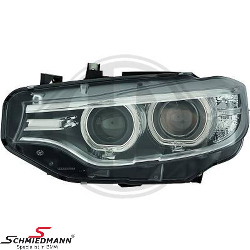 Headlight D1 bi-xenon L.-side (For models without adaptive headlights)