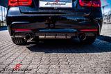 INF3031MOT2HVS1  Heckdiffusor -Motorsport 2- für BMW F30 / F31 mit je 1 Endrohr pro Seite - grundiert