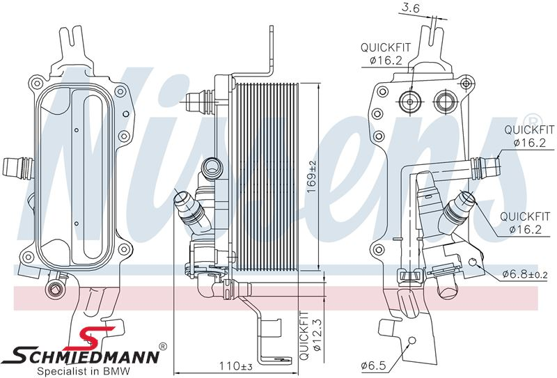 Oilcooler for automatic transmission