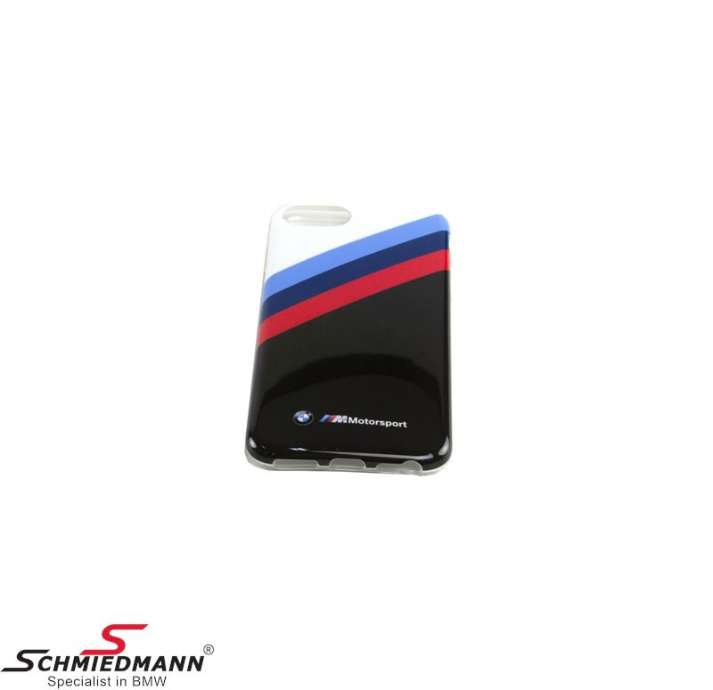 BMW Motorsport iPhone 7/8 mobile cover, black/white