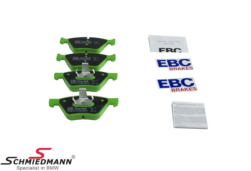 Racingbromsbelägg fram EBC green stuff (Sportbelägg för gatubruk)