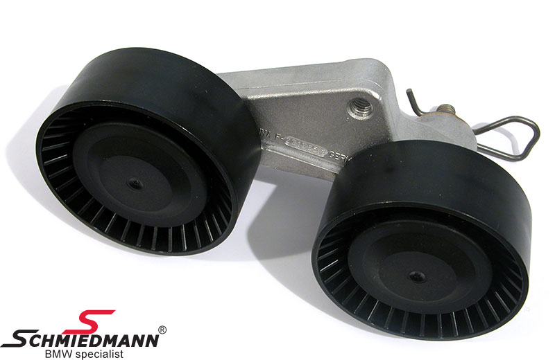 Belt tensioner wheel with arm/wheel waterpump/alternator