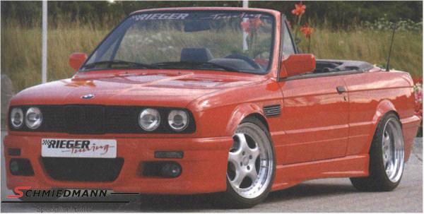 Rieger frontspoiler i E46 M3 look komplet inkl. tågelygter