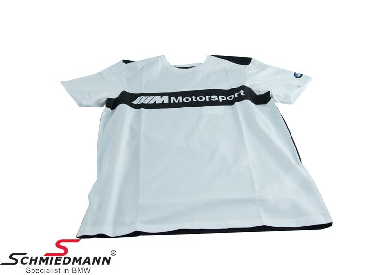 T-shirt ///M Motorsport sort/hvid med logo, herre str. XL