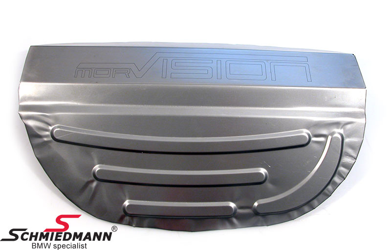 Spare wheel box modification plate for original M3 exhaust