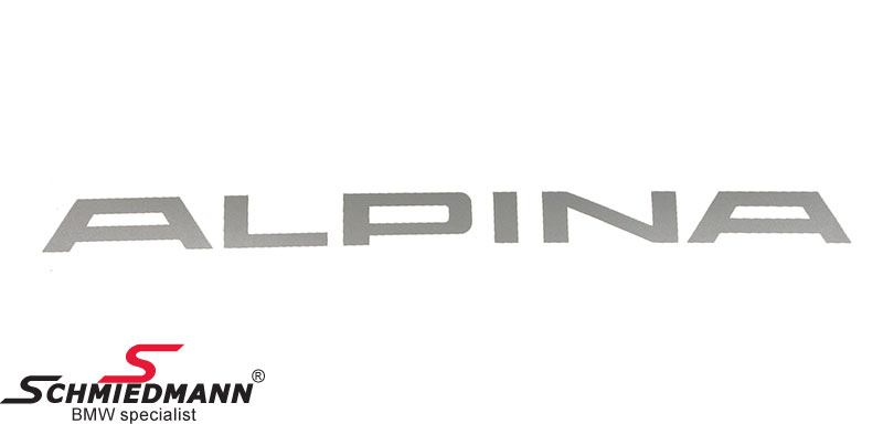 Alpina logo sticker -silver- original Alpina L= 360MM