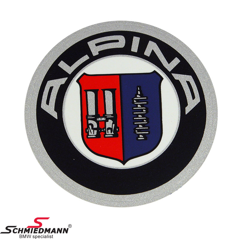 Alpina logo round sticker original Alpina D=51MM