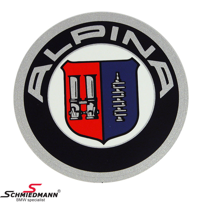 Alpina logo round sticker original Alpina D=59MM