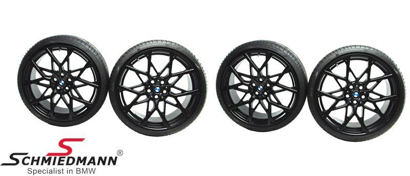 "20"" complete summer wheel set M-Performance 795M matt black 8+8,5x20"" rims with 225/35R20+255/30R20 incl. 433MHz RDC sensors- original BMW"