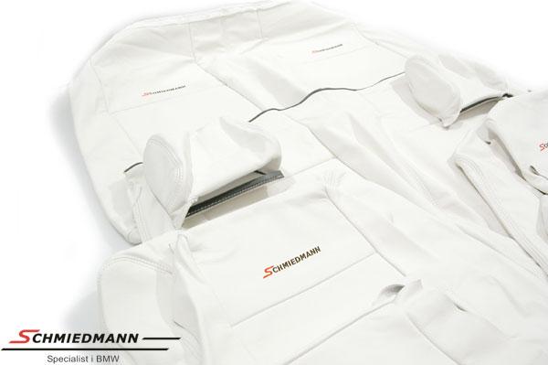 Læderindtræk org. Schmiedmann hvid uden montering