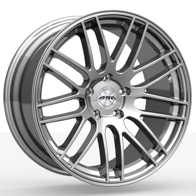 "20"" original ASA GT1 shiny silver fælge 9x20"