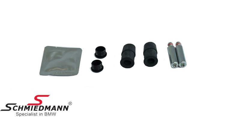 Repair kit guide bush with guiding bolts for front brake carrier, incl. grease