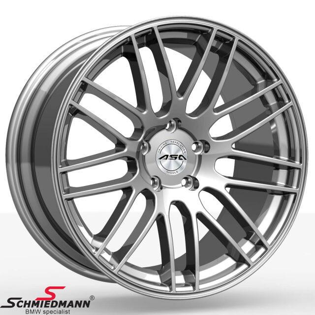 "20"" original ASA GT1 fælge shiny silver 10,5X20 (passer kun bag)"