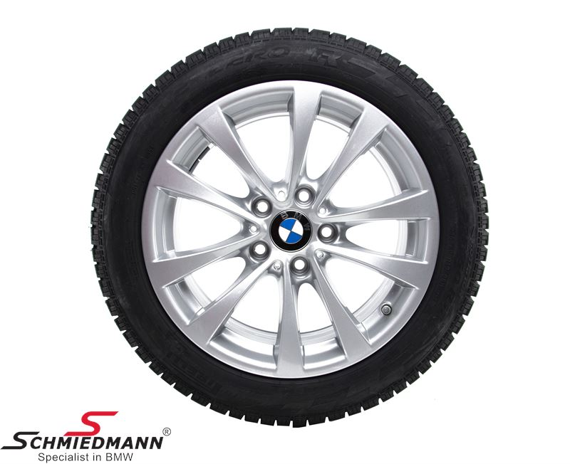 "17"" complete winter wheel set V-speiche 395 reflex-silber 7,5X17"" rims with 225/50R17 incl. 433MHz RDC sensors - original BMW"
