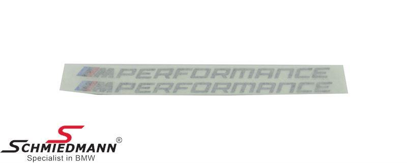 Sticker set (for both sides) for original BMW -M///Performance- sideskirt mouldings