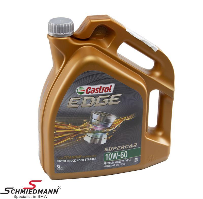 Motorolie Castrol Edge FST 10W-60 fuldsyntetisk 5liter dunk (Bemærk venligst 5L dunk)