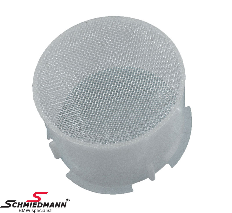Strainer for windscreen wash tank