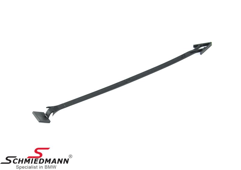 Holding band for towing hitch cover for front bumper