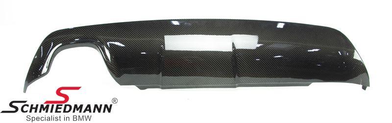 -DEMO- Hækskørte indsats -EVO- til M-Tech. hækskørte ægte carbon (Bemærk: Delen har en mindre skade, se billeder)