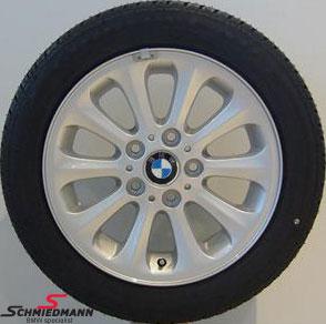 """16"""" Radialspeiche 139 original BMW rims with 195/55HR16 Pirelli run flat winter tyres"""