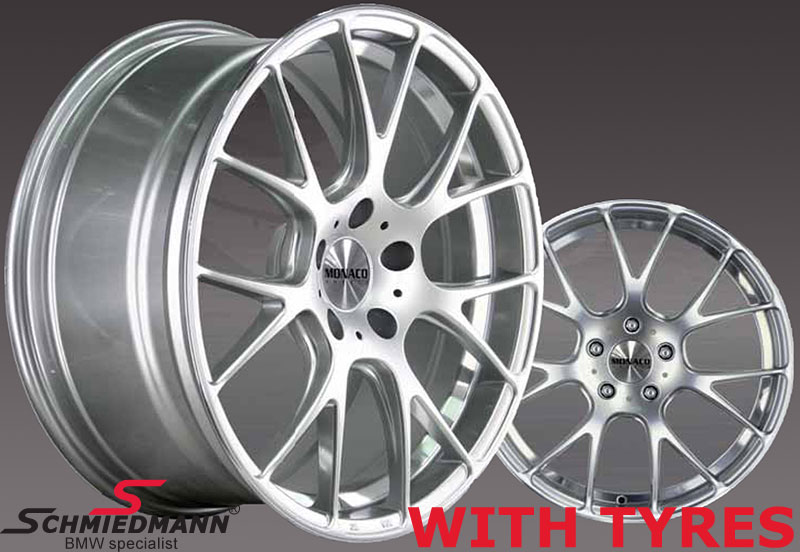 """19"""" -Competition- hyper silver 8,5+9,5X19 m. 245/35+275/30/19"""