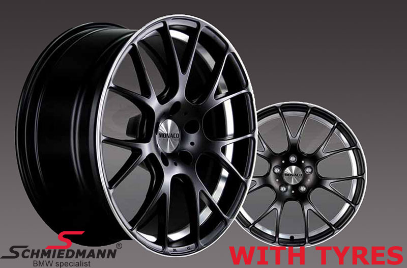 "18"" -Competition- deep black rims 8X18 rims with 245/40/18"
