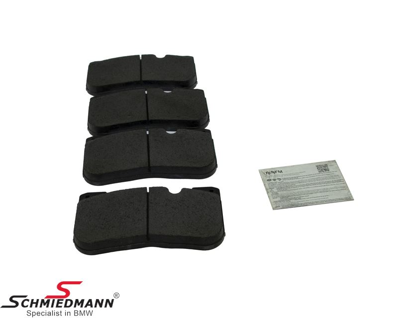 Brakepads front (For models without M carbon ceramic brakes)