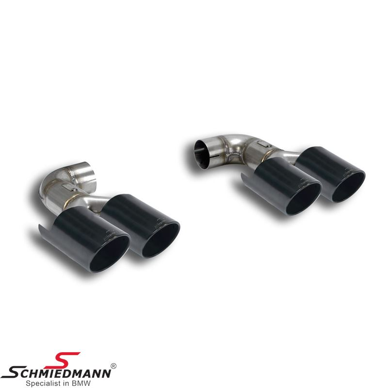 Supersprint tailpipes black 4x90mm.